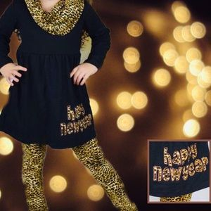 Other - NEW ARRIVAL  Leopard 3pc Happy New Year Scarf Set